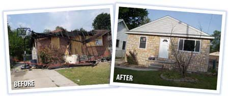 Devastating Home Fire - Outstanding Recovery! - Portfolio - M.J. White & Son, Inc. - mjwhite_14